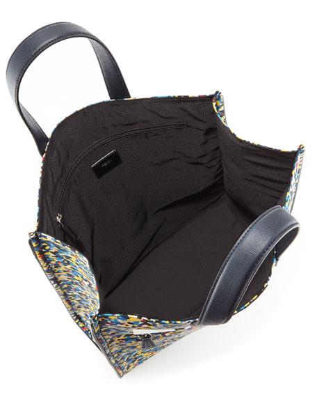 5c6b8373da5b Fendi Monster Eyes Confetti-Print Nylon Tote Bag