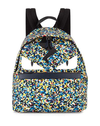 Men's Multicolor Confetti-Print Backpack