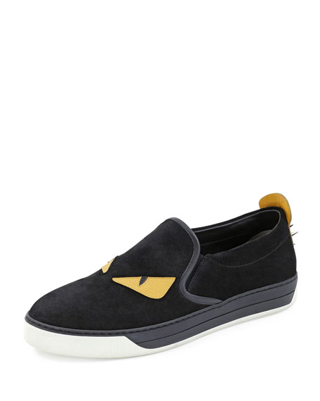 c6deffbc Men's Monster Slip-On Sneakers Black