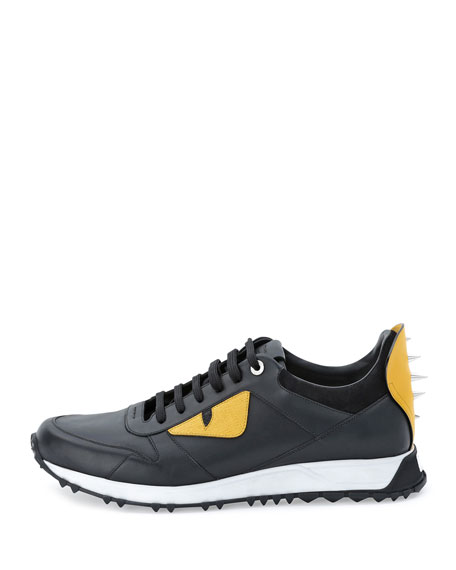 0dfdd9cf Monster Runner Spike-Back Leather Sneaker