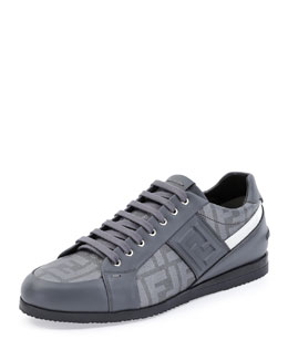 Softy Lace-Up Low-Top Sneaker, Gray