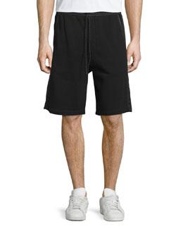 Knox Drawstring Training Shorts, Black