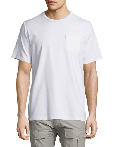 Flint Short-Sleeve Knit Tee, Bright White