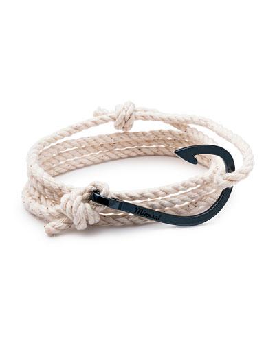 Men's Hook Rope Bracelet, Navy