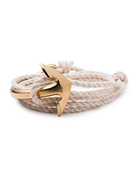 Men's Half-Anchor Rope Bracelet