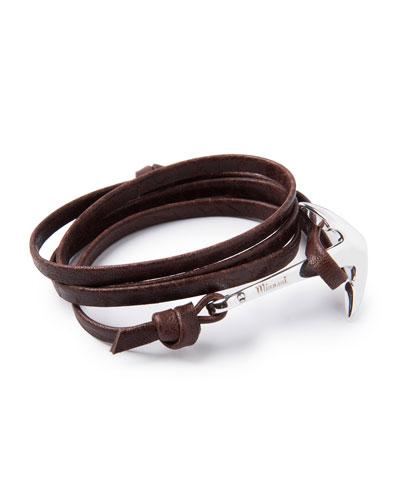 Men's Anchor Leather Bracelet, Mojave