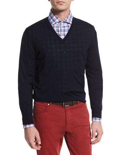 High-Performance Wool Sweater, Navy