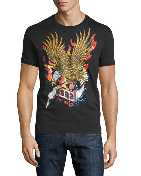dsquared2 eagle graphic short sleeve t shirt black. Black Bedroom Furniture Sets. Home Design Ideas