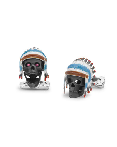 Headdress Skull Cuff Links