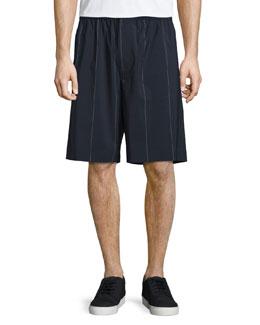 Pinstripe Board Shorts, Midnight