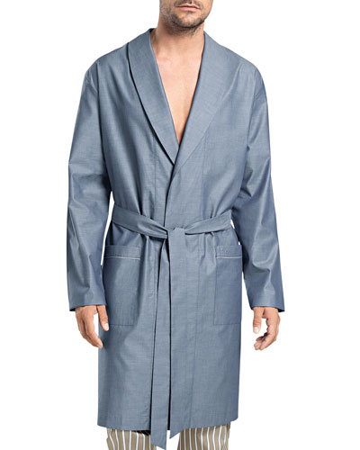Javier Solid Wrap Robe, Blue