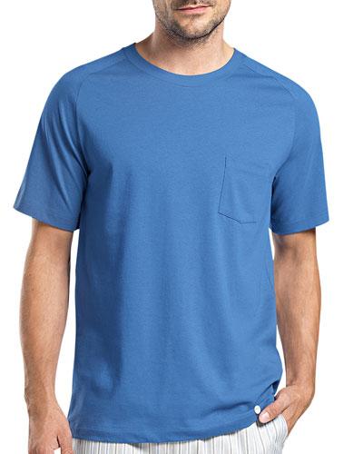 Alvaro Short-Sleeve Lounge Tee, Blue