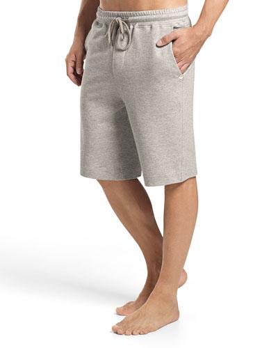 Raul Knit Lounge Shorts, Light Gray