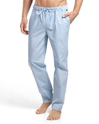 Night & Day Check Lounge Pants, Blue