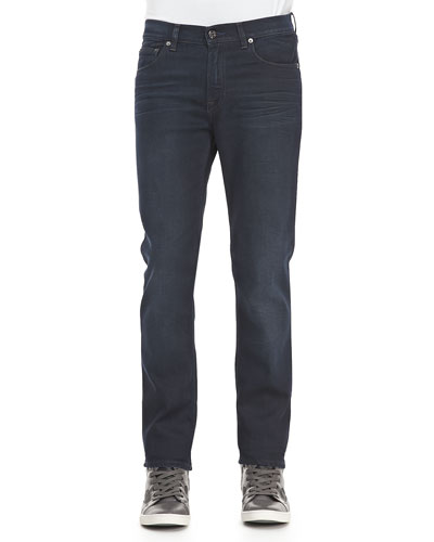 Ace Soft Blue-Black Five-Pocket Jeans