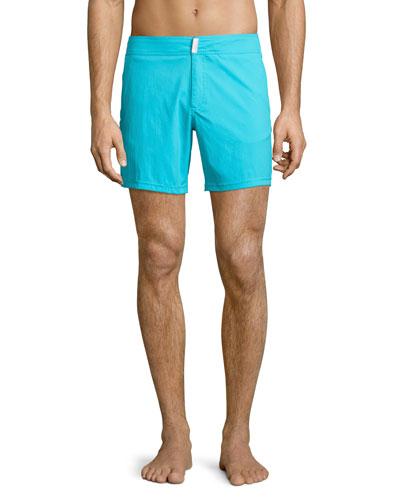 Merise Solid Swim Trunks, Turquoise