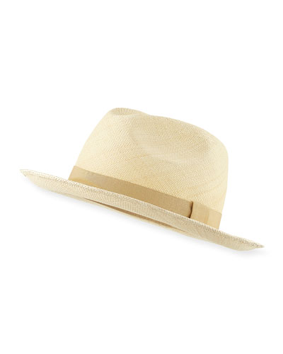 Laurence Panama Straw Hat, Natural