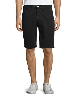 Griffin Flat-Front Shorts, Super Black