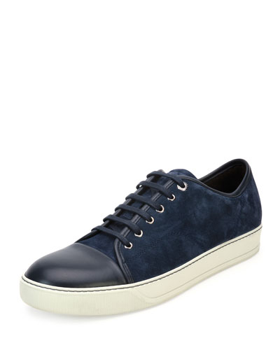 Matte Cap-Toe Low-Top Sneaker