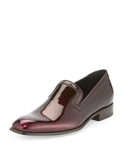Garth Patent Leather Venetian Loafer, Wine