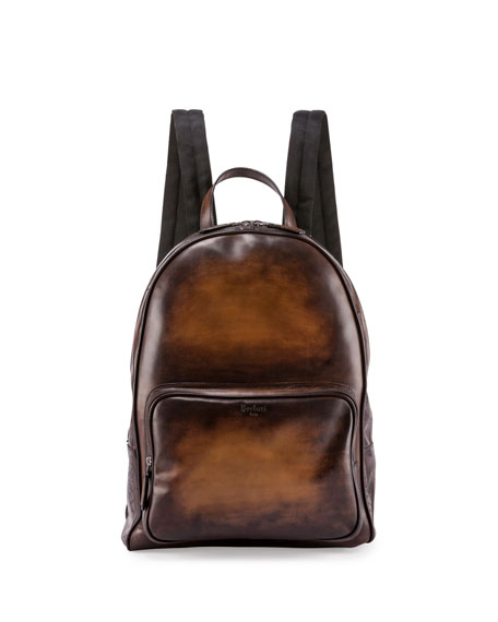 Time Off Leather Backpack, Tobacco Bis