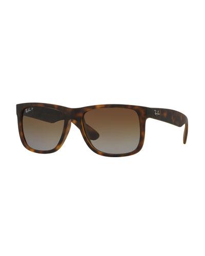 Flat Top Plastic Sunglasses, Havana