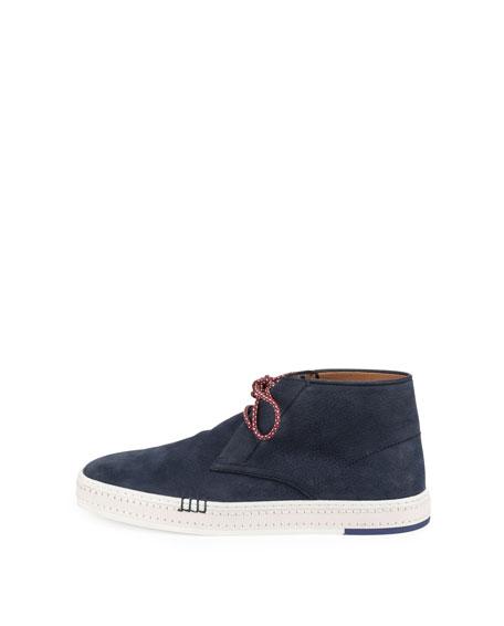 Men's Cortina Suede Chukka Sneakers, Blue