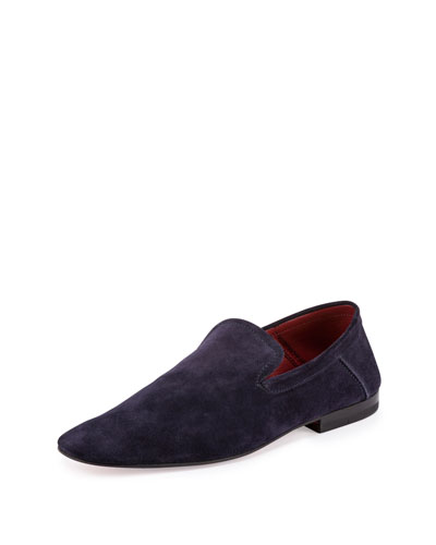 Flex Suede Slip-On Loafer, Blue