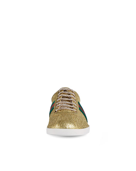 da3dab31 Bambi Web Low-Top Sneaker with Stud Detail Gold