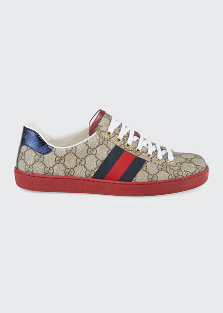 gucci new ace gg supreme low top sneaker. Black Bedroom Furniture Sets. Home Design Ideas