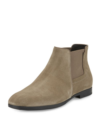 Suede Chelsea Boot, Stone