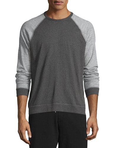 Colorblock Raglan-Sleeve Shirt, Pewter