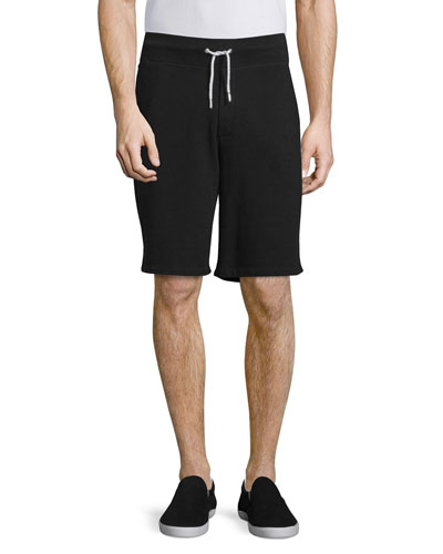 Standard Issue Drawstring Sweat Shorts, Black
