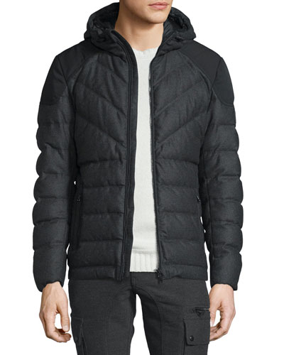 Glenwood Flannel Hooded Down Jacket