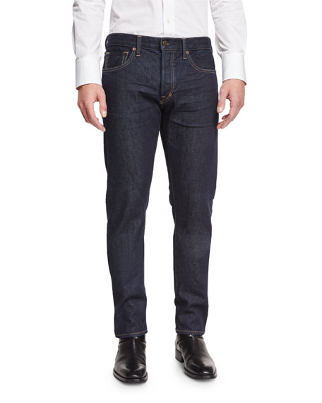 Regular-Fit New Indigo Stretch-Denim Jeans, Indigo
