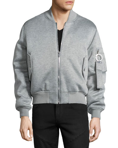 Jersey Bomber Jacket, Gray