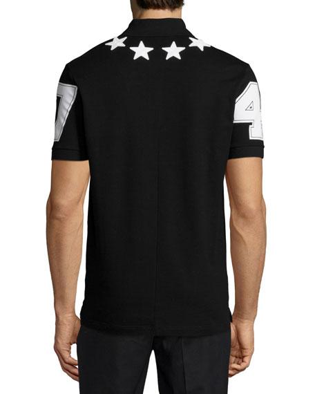 ae62415a Givenchy Cuban Star-Print Polo Shirt, Black