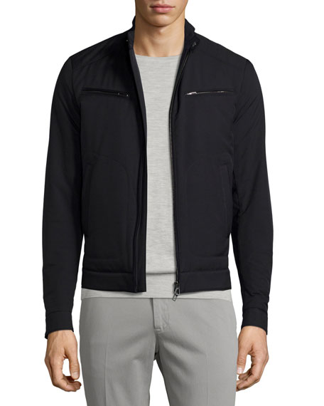 Loro Piana Windmate® Zip-Front Jacket, Blue Navy