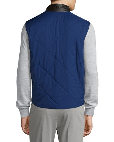 Horsey® Wind Soft Quilted Vest, Twilight Blue