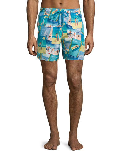 Mahina Sushi Vintage Swim Trunks