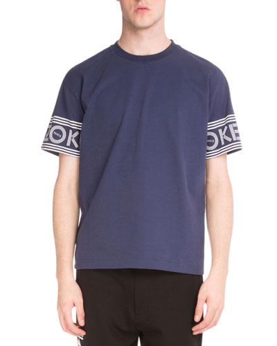 Logo-Print Short-Sleeve T-Shirt, Blue