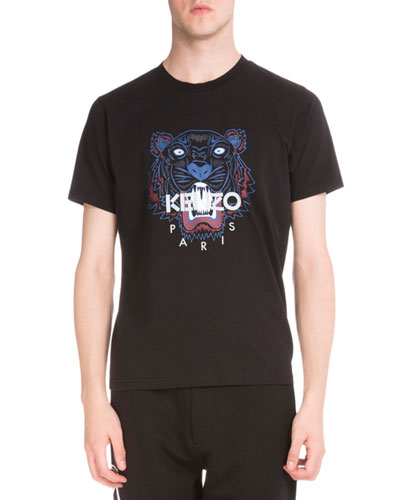 Tiger Icon Short-Sleeve T-Shirt, Black