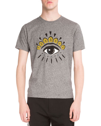 Iconic Eye-Print Short-Sleeve T-Shirt, Gray