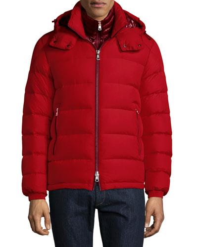 Brique Puffer Jacket W/Removable Liner, Red