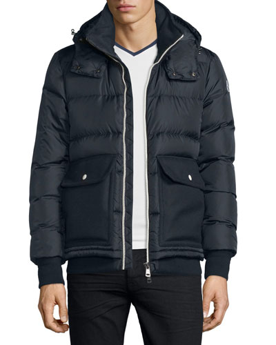 Rabelais Quilted Down Jacket, Navy