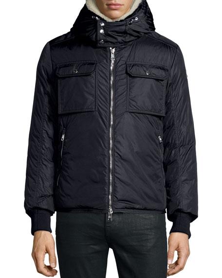 Darwin Shirt Jacket w/Shearling Collar, Navy