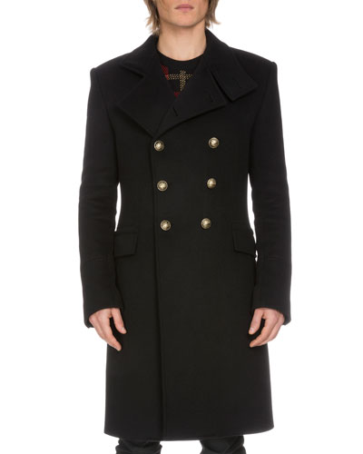 Double-Breasted Long Coat, Navy