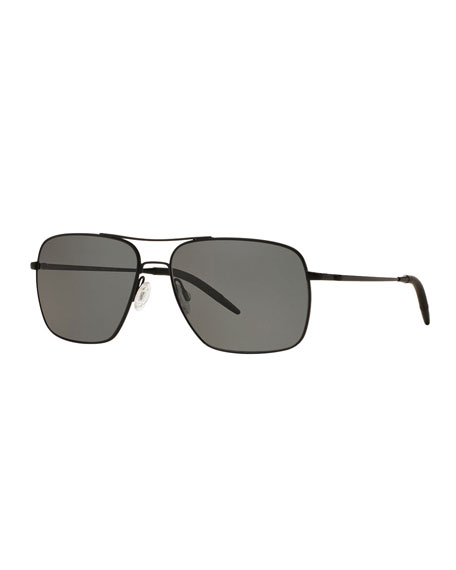 Oliver Peoples Clifton 58 Polarized Sunglasses, Black
