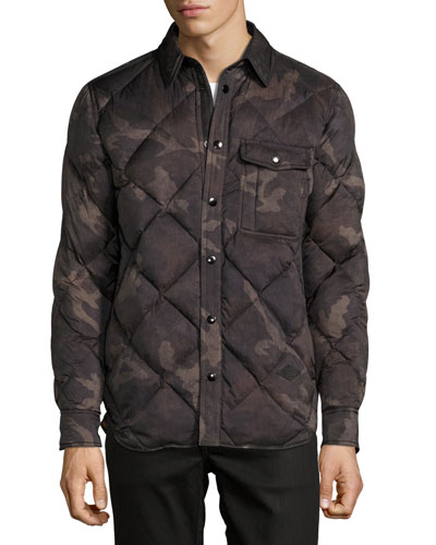 Mallory Down Shirt Jacket, Camo