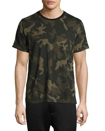 Camo-Print Ringer T-Shirt